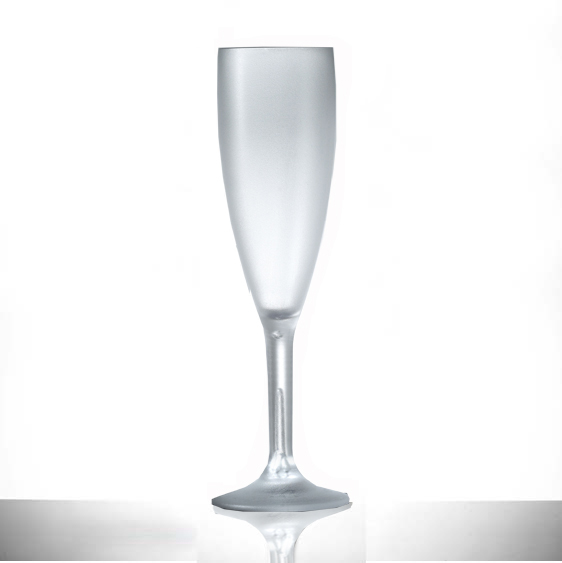 Elite Premium Frosted Polycarbonate 6.6oz Champagne Flute - 12 Pack