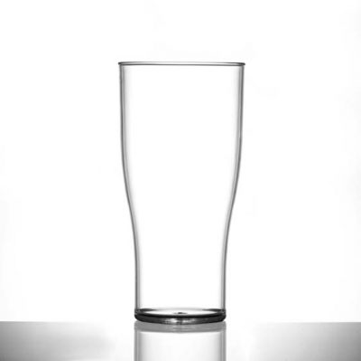 Elite Polycarbonate Plastic Tulip Pint / 20 oz Glasses CE - 48 Pack