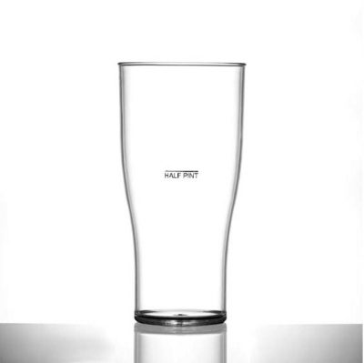 Elite Premium Polycarbonate Tulip Pint 20oz CE Lined at Half Pint - 48 Pack