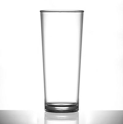 Premium Polycarbonate Pint Glasses 20 oz CE - 24 Pack
