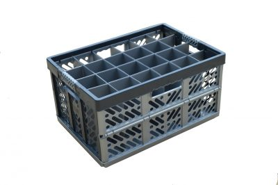 4. Folding Glassware Storage Crate, 24 cells