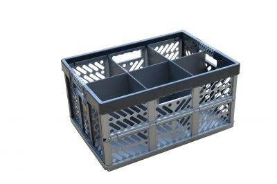 1. Folding Crate - Glassware Box, 6 cells