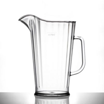 Small 2 Pint Jug - Elite Plastic Jug - No lid - CE Marked : Lined @ 2 Pint