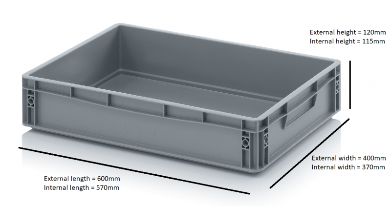 06 Cells - Glass Storage Container, Glass max height = 150mm, Glass width range = 112 to 163mm