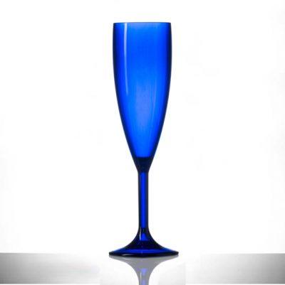 Blue champagne flute - UK deliver
