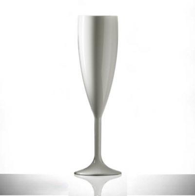 Champagne Flute - White