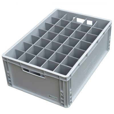 Champagne Glass Storage Crate Box