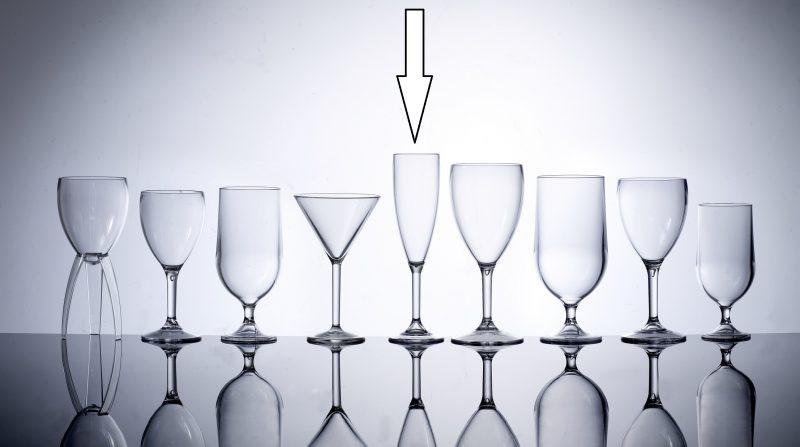 Unbreakable Plastic Champagne Flutes