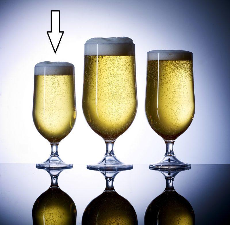Elite Half Pint / 10oz Goblet Clear NS, Polycarbonate Beer Glasses - 18 Pack