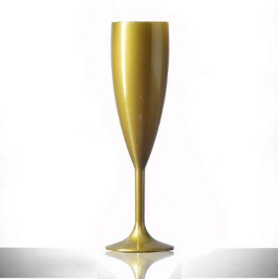 Gold Champagne Flutes Polycarbonate Plastic