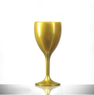 Gold Wine Reusable Glasses