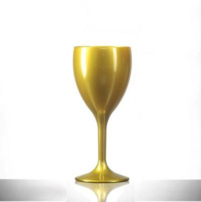 Gold Wine Reusable Glasses