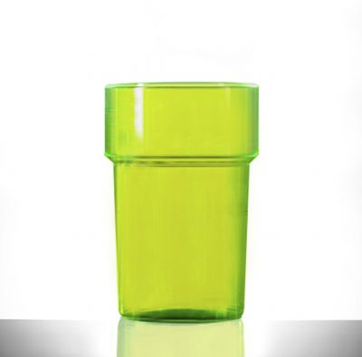 Neon Blue Econ Rigid Half Pint Polystyrene Plastic Tumbler Glass, 284ml / 28.4cl / 10oz - 100 Pack