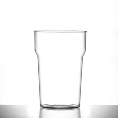 Elite Nonic Polycarbonate Pint / 20 oz Glasses CE - 100 Pack