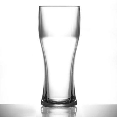 Premium Plastic Pint Glasses - Elite Pilsner Polycarbonate Pint / 20oz Glasses - 12 Pack