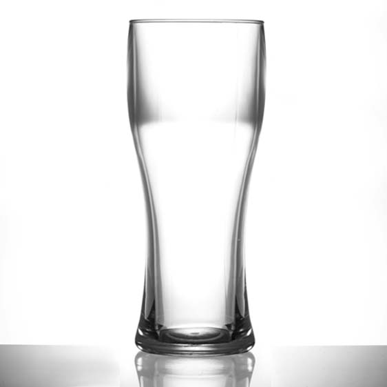 Premium Plastic Pint Glasses - Elite Pilsner Polycarbonate Pint / 20oz Glasses CE - 12 Pack