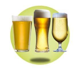 Plastic Beer Glasses - Pint & Half Pint