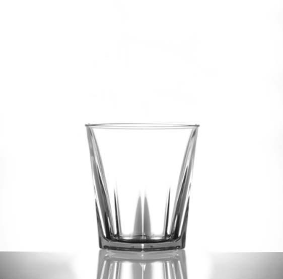 plastic rocks glass
