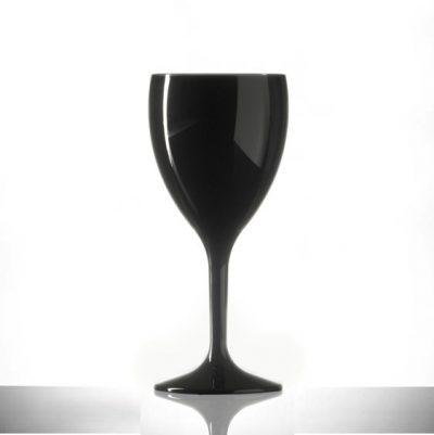 Polycarbonate Wine Glasses - Elite Premium 11oz Black - 12 Pack