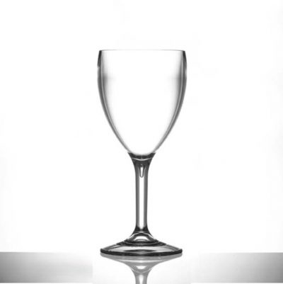 11oz Plastic Wine Glasses Large Polycarbonate - 12 Pack