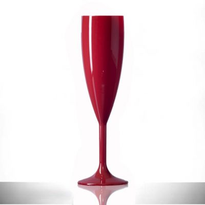 Red Champagne Flutes Plastic