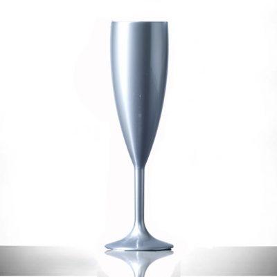 Silver Champagne Flutes Plastic