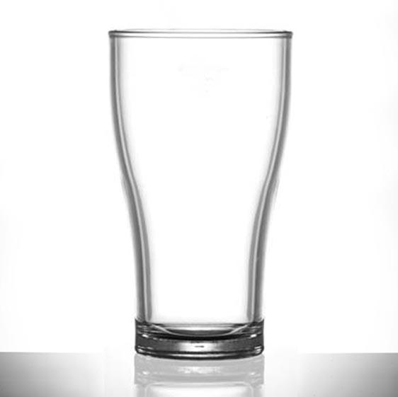 Elite Viking 15oz / 425ml Polycarbonate Glasses, CE Marked : Lined @ 2/3 Pint - 24 Pack