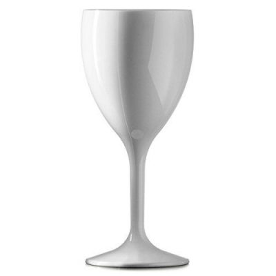 Polycarbonate Reusable White Martini Glass 7oz - 12 Pack