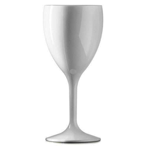 Polycarbonate Reusable White Martini Glass 7oz - 12 Pack
