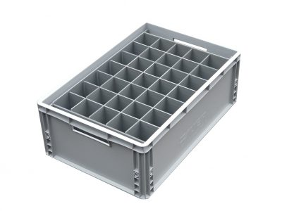 5. Euro Crate = 35 cells | Glass max height = 100mm | Glass width range = 0mm to 65mm