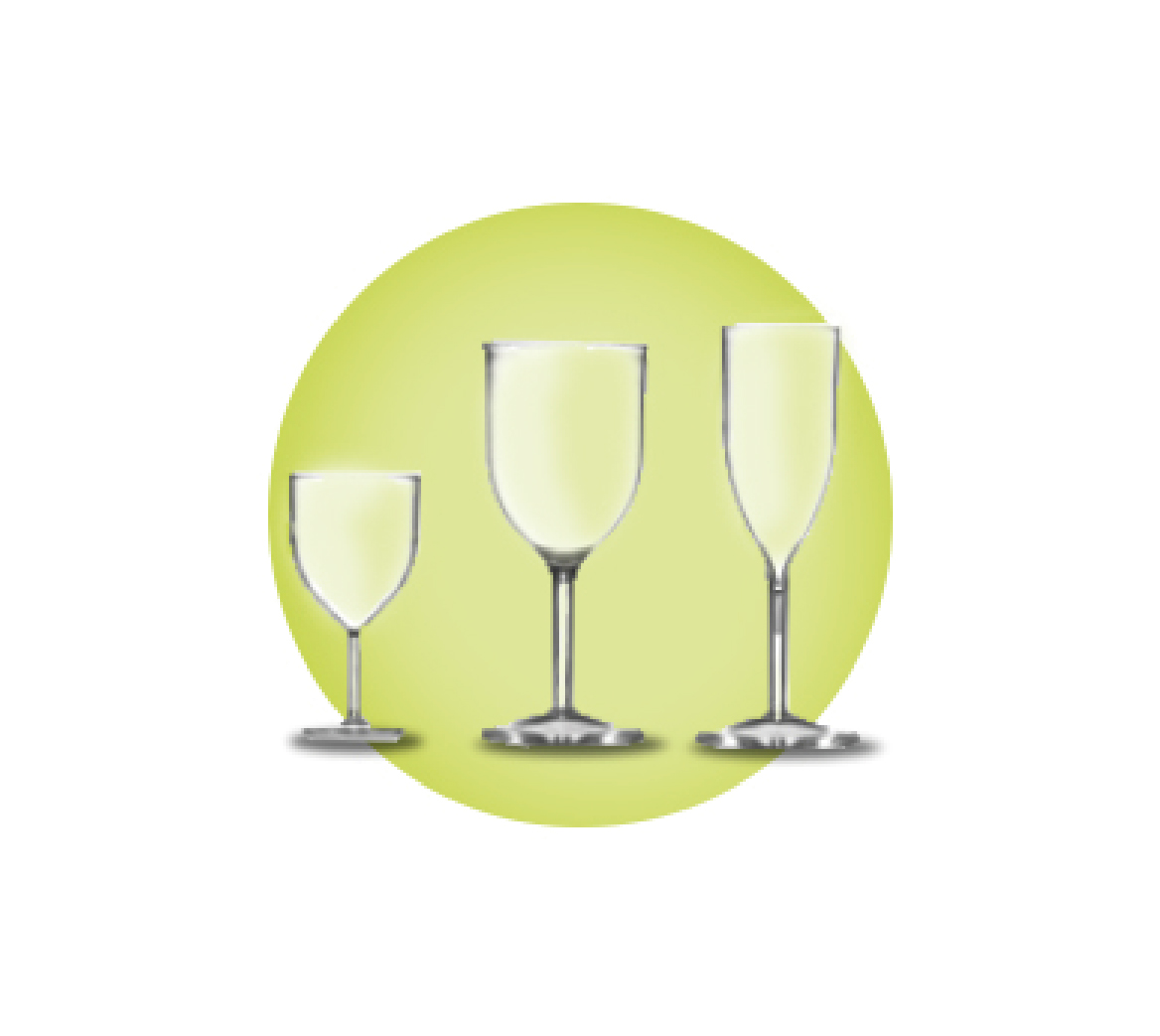Econ Wine Glasses and Champagne Glasses Polystyrene