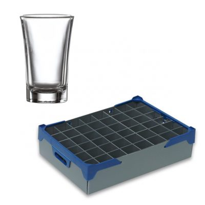 Shot Glasses, Classic Shooter 4.7cl / 1.65oz - 48 Pack and Glassware Storage Box