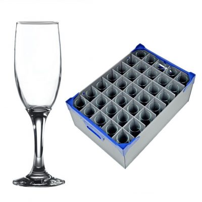 Empire / Misket Champagne Flute 19cl / 6.5oz - 35 Pack and Glassware Storage Box