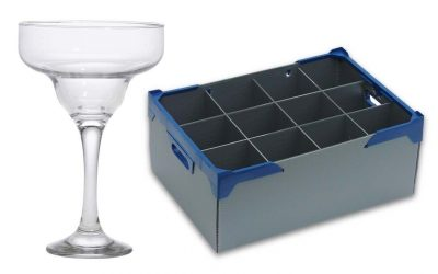 Margarita Cocktail Glass 19cl / 6.75oz and Glassware Storage Box