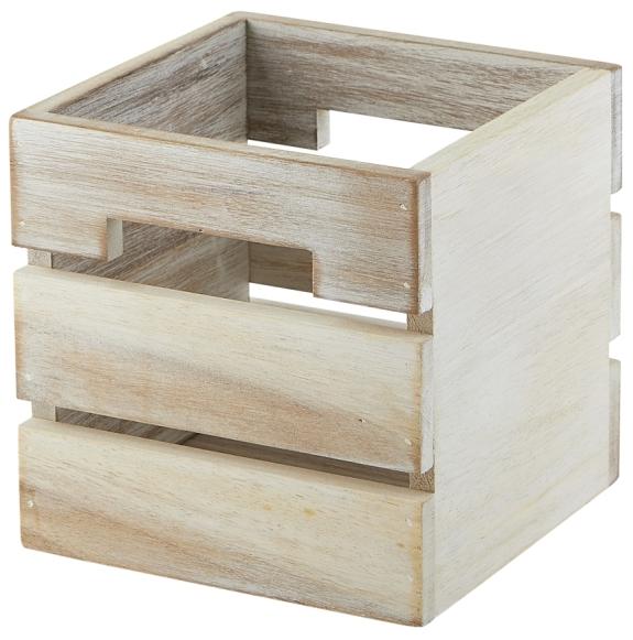 White Acacia Wood Box/Riser 15x15x15cm