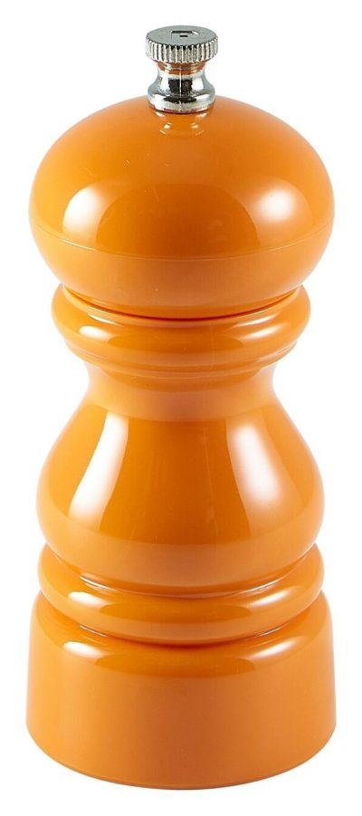 Genware Salt Or Pepper Grinder Orange 12.7cm