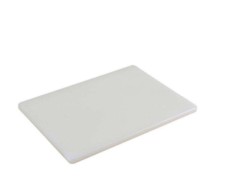 "White Poly Cutting Board 12 x 9 x 0.5"""