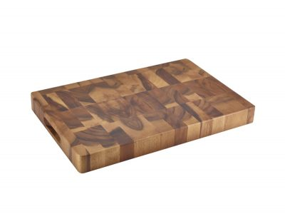 Acacia Wood End Grain Chopping Board 18 x 12 x 1.75""