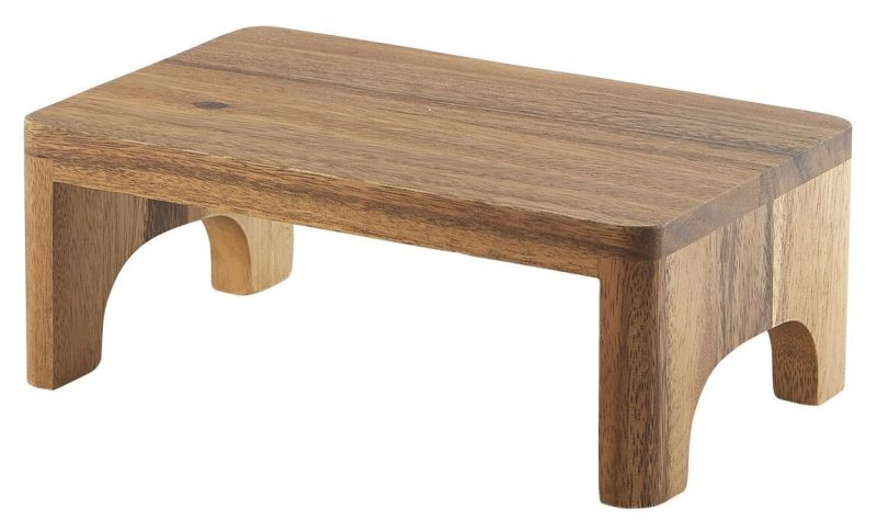 Acacia Wood GN Buffet Riser GN 1/4 10cm (H)