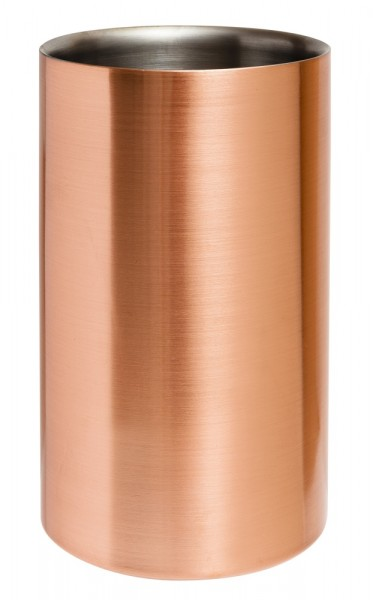 Beaumont Copper Plated Wine cooler H20cms x Dia12cms Copper Plated Stainless Steel