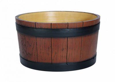 Beaumont Barrel End Ice Tub Wood Grain Effect 11 litre /19 pint