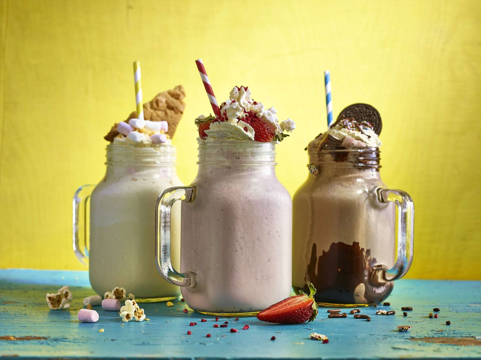 Mason Jars & Mini Milk Bottles