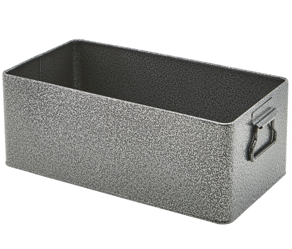 Galvanised Steel Box GN 1/3 Antique Silver