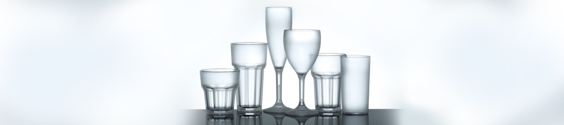 frosted plastic drinking wine glasses