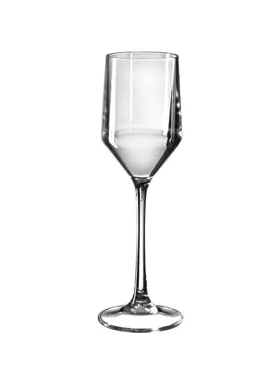 Premium Plastic Champagne Glasses 190ml / 6.7oz – 6 Pack