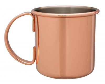 Beaumont Mezclar 500ml Moscow Mule Mug Copper Plated Straight Sides