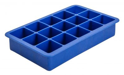 Beaumont 15 Cavity Silicone Ice Cube Mould 1.25″ Square (Blue)