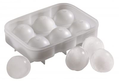 Beaumont 6 Cavity Silicone Ice Ball Mould (Clear)