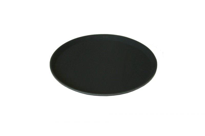 Beaumont 11″ Round Black Non Slip Tray