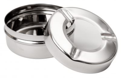 "Beaumont 3½""Stainless Steel Windproof Ashtray"